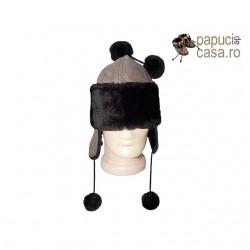 CC001 - Caciula din piele naturala pentru copii