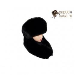 CGF001 - Set caciula si guler din blana de vulpe intreaga pentru femei