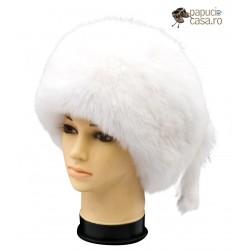 CF020 - Caciula din blana de vulpe polara intreaga pentru femei