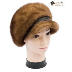 BF001 - Bereta din blana de nurca naturala pentru femei