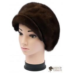 BF003 - Bereta din blana de nurca naturala pentru femei