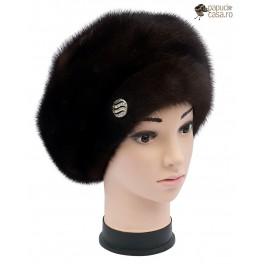BF006 - Bereta din blana de nurca naturala pentru femei