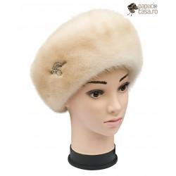 BF007 - Bereta din blana de nurca naturala pentru femei