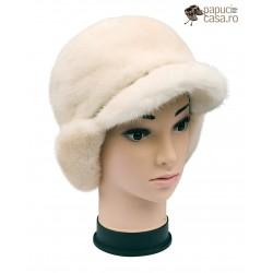 BF008 - Bereta din blana de nurca naturala pentru femei