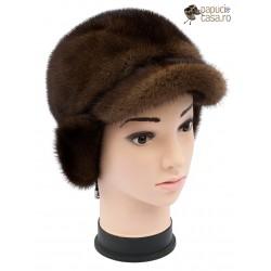 BF009 - Bereta din blana de nurca naturala pentru femei