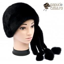 BF010 - Bereta din blana de nurca naturala pentru femei