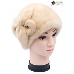 BF012 - Bereta din blana de nurca naturala pentru femei