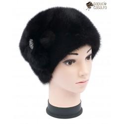 BF013 - Bereta din blana de nurca naturala pentru femei