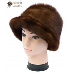 BF015 - Bereta din blana de nurca naturala pentru femei