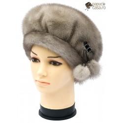 BF019 - Bereta din blana de nurca naturala pentru femei