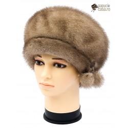 BF021 - Bereta din blana de nurca naturala pentru femei