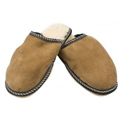 B004-Papuci casa din piele naturala barbati
