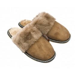 B005-Papuci casa din piele naturala barbati