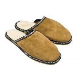 B006-Papuci casa din piele naturala barbati