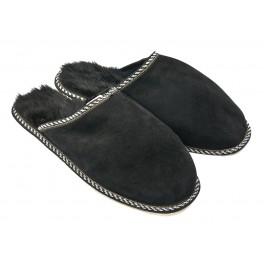 B007-Papuci casa din piele naturala barbati