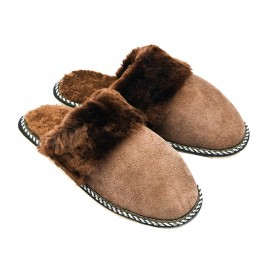B008-Papuci casa din piele naturala barbati