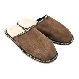 B010-Papuci casa din piele naturala barbati
