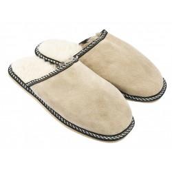 B011-Papuci casa din piele naturala barbati