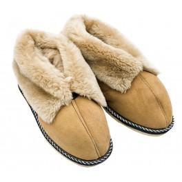B017 - Papuci casa (botosi) din blana si piele naturala barbati