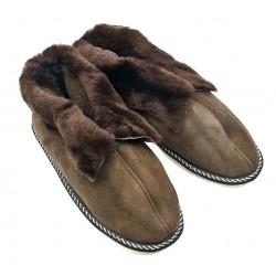 B019 - Papuci casa (botosi) din blana si piele naturala barbati