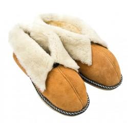 F015 - Papuci casa din blana si piele naturala femei (botosi)