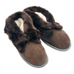 F016- Papuci casa din blana si piele naturala femei (botosi)