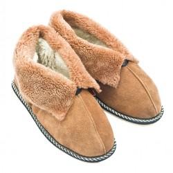 F017 - Papuci casa din blana si piele naturala femei (botosi)