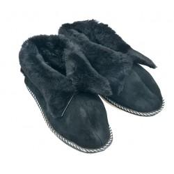 F019 - Papuci casa din blana si piele naturala femei (botosi)