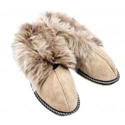 F020 - Papuci casa din blana si piele naturala femei (botosi)