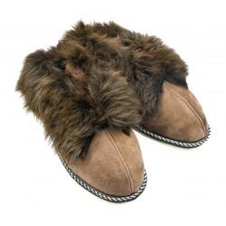 F021 - Papuci casa din blana si piele naturala femei (botosi)
