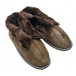 F022 - Papuci casa din blana si piele naturala femei (botosi)