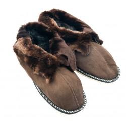 F023 - Papuci casa din blana si piele naturala femei (botosi)