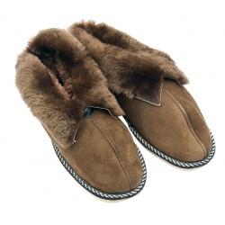 F024 - Papuci casa din blana si piele naturala femei (botosi)