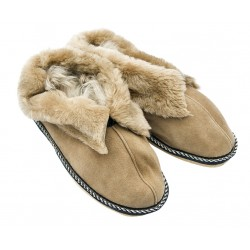 F025 - Papuci casa din blana si piele naturala femei (botosi)