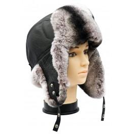 CBU005- Caciula cu urechi din blana naturala ovina pentru barbati/tineret