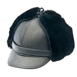 SB010 - Sapca din blana si piele de oaie pentru barbati