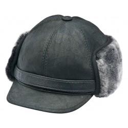 SB012 - Sapca din blana si piele de oaie pentru barbati