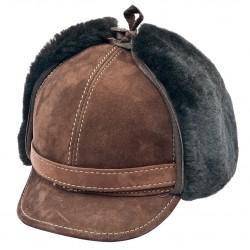 SB013 - Sapca din blana si piele de oaie pentru barbati