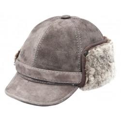 SB014 - Sapca din blana si piele de oaie pentru barbati