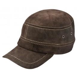 SB016 - Sapca din blana si piele de oaie cu urechi pentru barbati