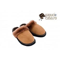 B001-Papuci casa din piele naturala barbati