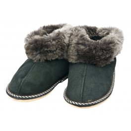 C019 - Papuci casa din blana si piele naturala pentru copii
