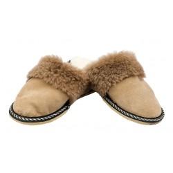 C026 - Papuci casa din blana si piele naturala pentru copii
