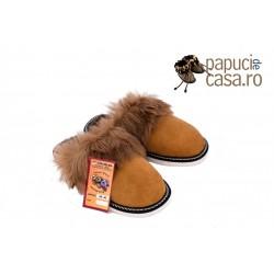 B002-Papuci casa din piele naturala barbati
