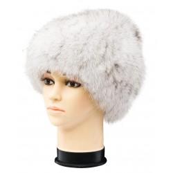 CF083 - Caciula din blana de vulpe argintie pentru femei
