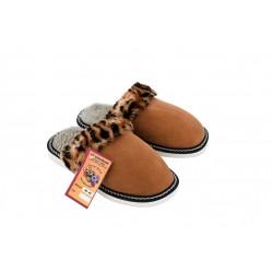 F001-Papuci casa din piele naturala femei
