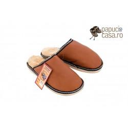 B003-Papuci casa din piele naturala barbati
