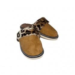 F027-Papuci casa din piele naturala femei