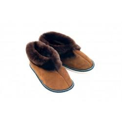 F003-Papuci casa din piele naturala femei