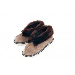 F005-Papuci casa din piele naturala femei